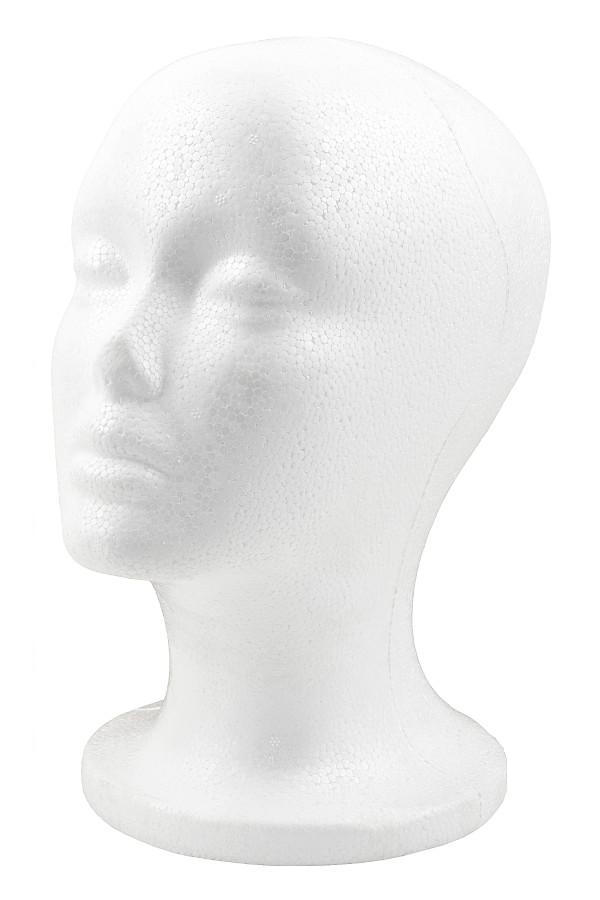 Zdjęcie Głowa styropianowa biała